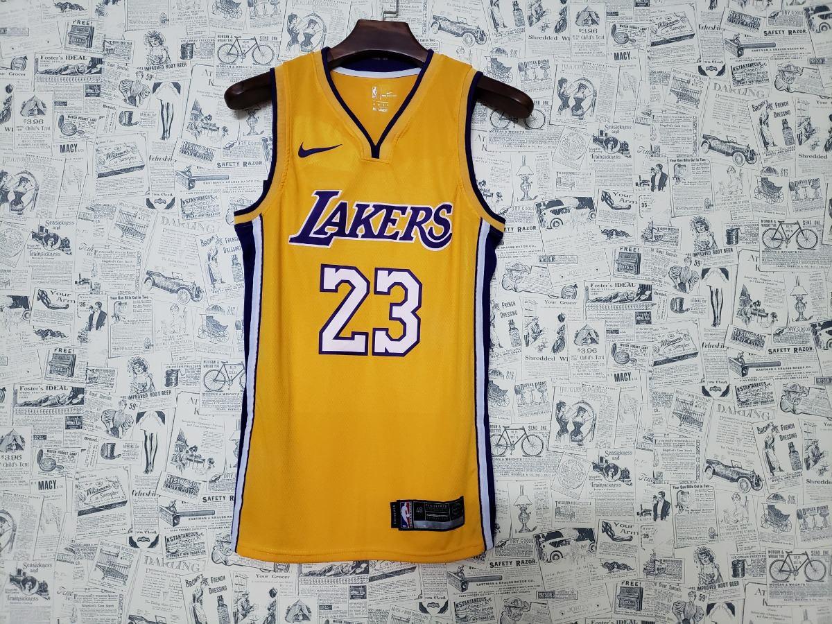 camiseta lakers nº23 lebron james nba original nike promoção. Carregando  zoom. b43d09a69efc7