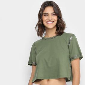 8e0972ef7 Camiseta Metalizada Feminina no Mercado Livre Brasil