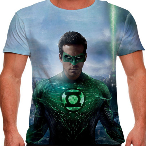 camiseta lanterna verde light masculina