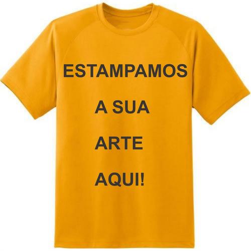 camiseta laranja lisa por r$10,0 ou personalizada por r$14,0