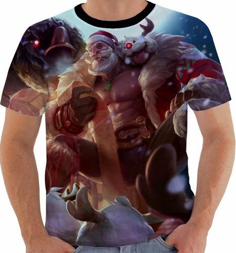 camiseta league of legends braum santa lol color