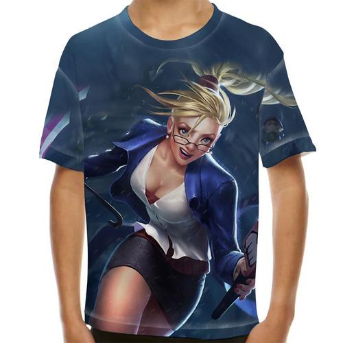 camiseta league of legends janna previsão do tempo infantil