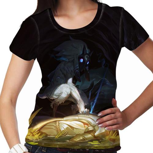camiseta league of legends kindred os caçadores eternos fem