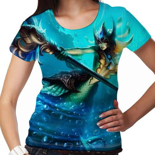 camiseta league of legends nami conjuradora das marés femin