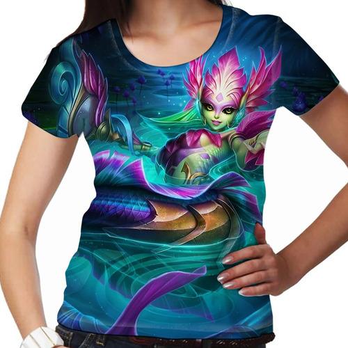 camiseta league of legends nami iara feminina