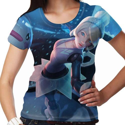 camiseta league of legends orianna inverno magico feminina