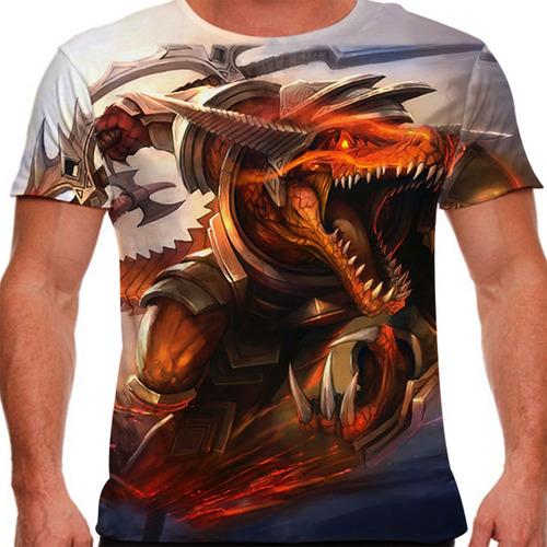 camiseta league of legends renekton fúria sanguinária masc