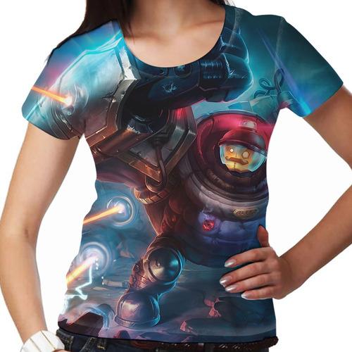 camiseta league of legends riot blitzcrank feminina