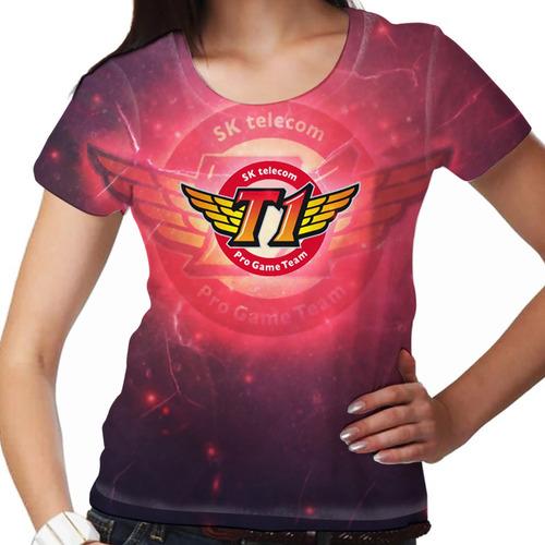 camiseta league of legends sk telecom t1 feminina