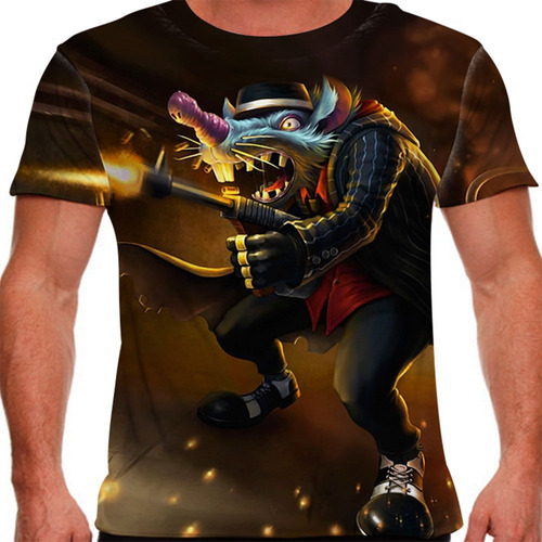 camiseta league of legends twitch mafioso masculina