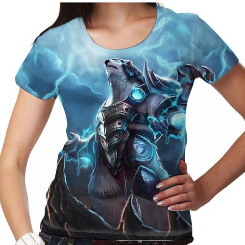 camiseta league of legends volibear rugido do trovão femini