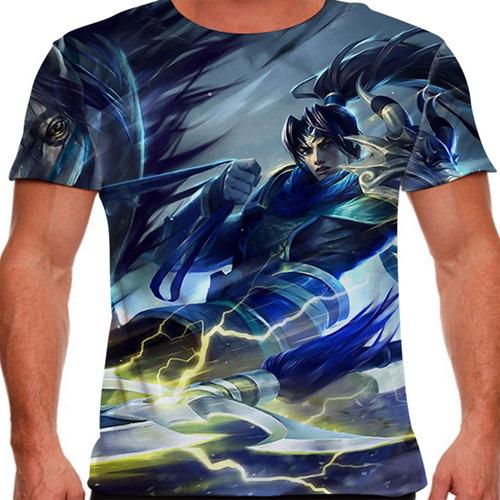 camiseta league of legends xin zhao reinos combatentes mascu