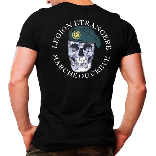 camiseta legion etrangere tática legião francesa algodão