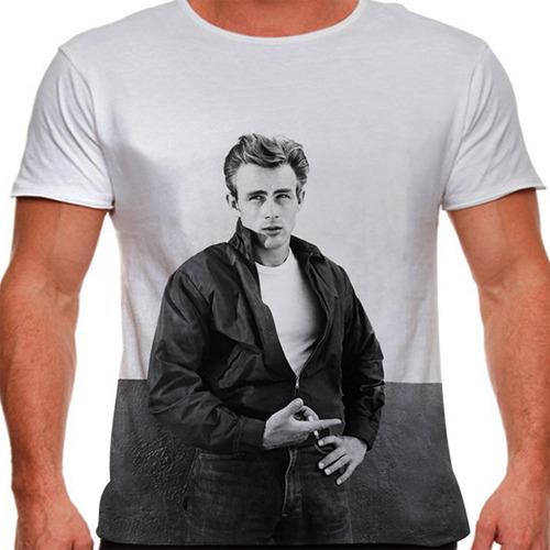 camiseta lenda james dean rebel masculina