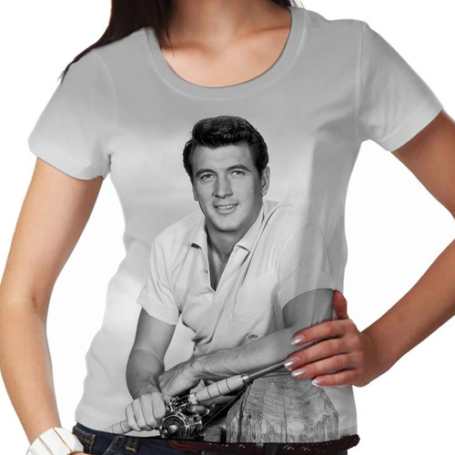 camiseta lenda rock hudson smile feminina