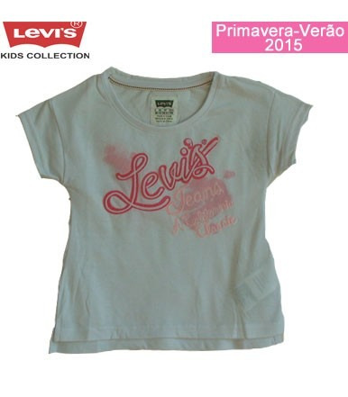 5c0e7dea064f8 Camiseta Levis Kids Top Patch Branca - R  69