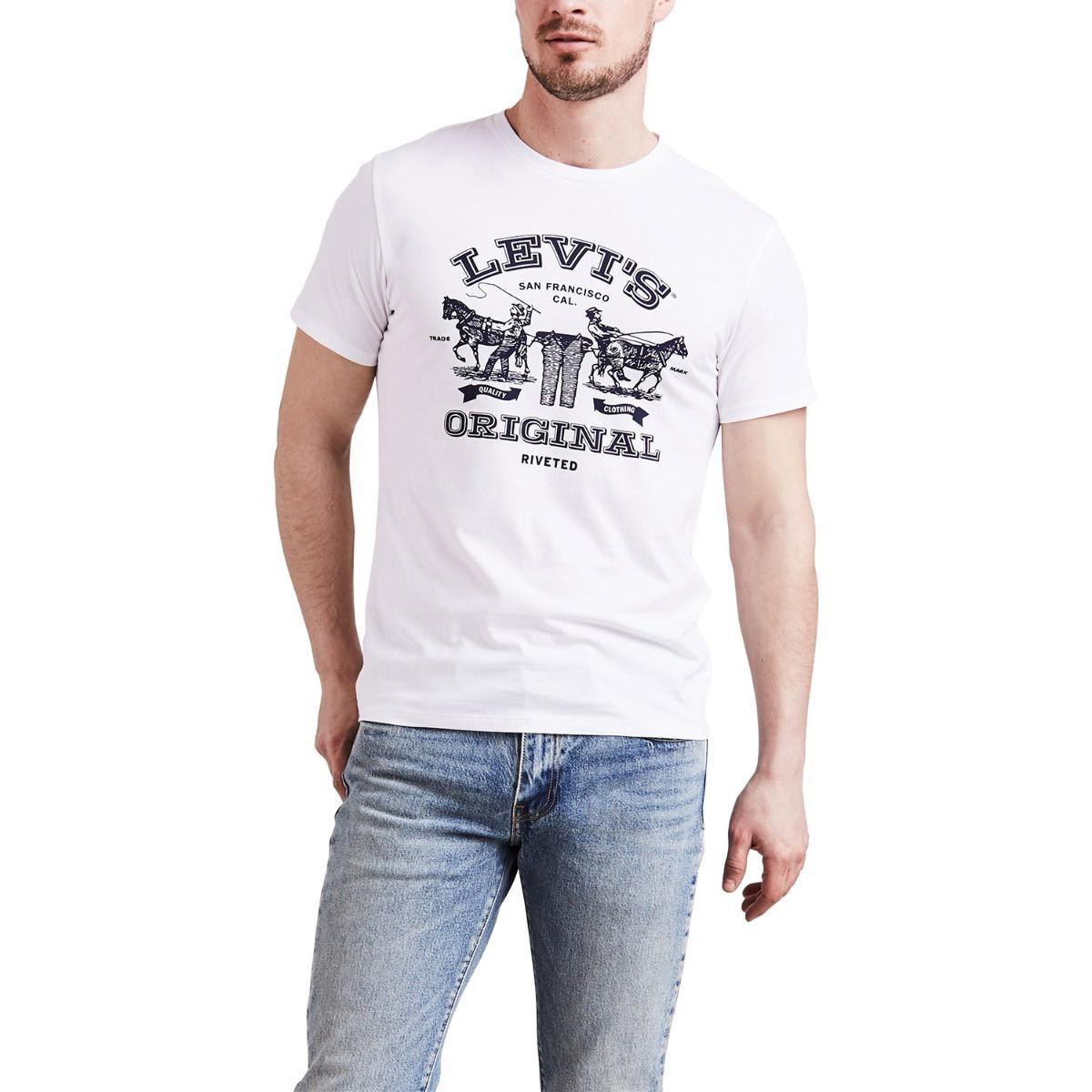 camiseta levis masculino logo 2 horses branco. Carregando zoom. 6b4ce46e59d