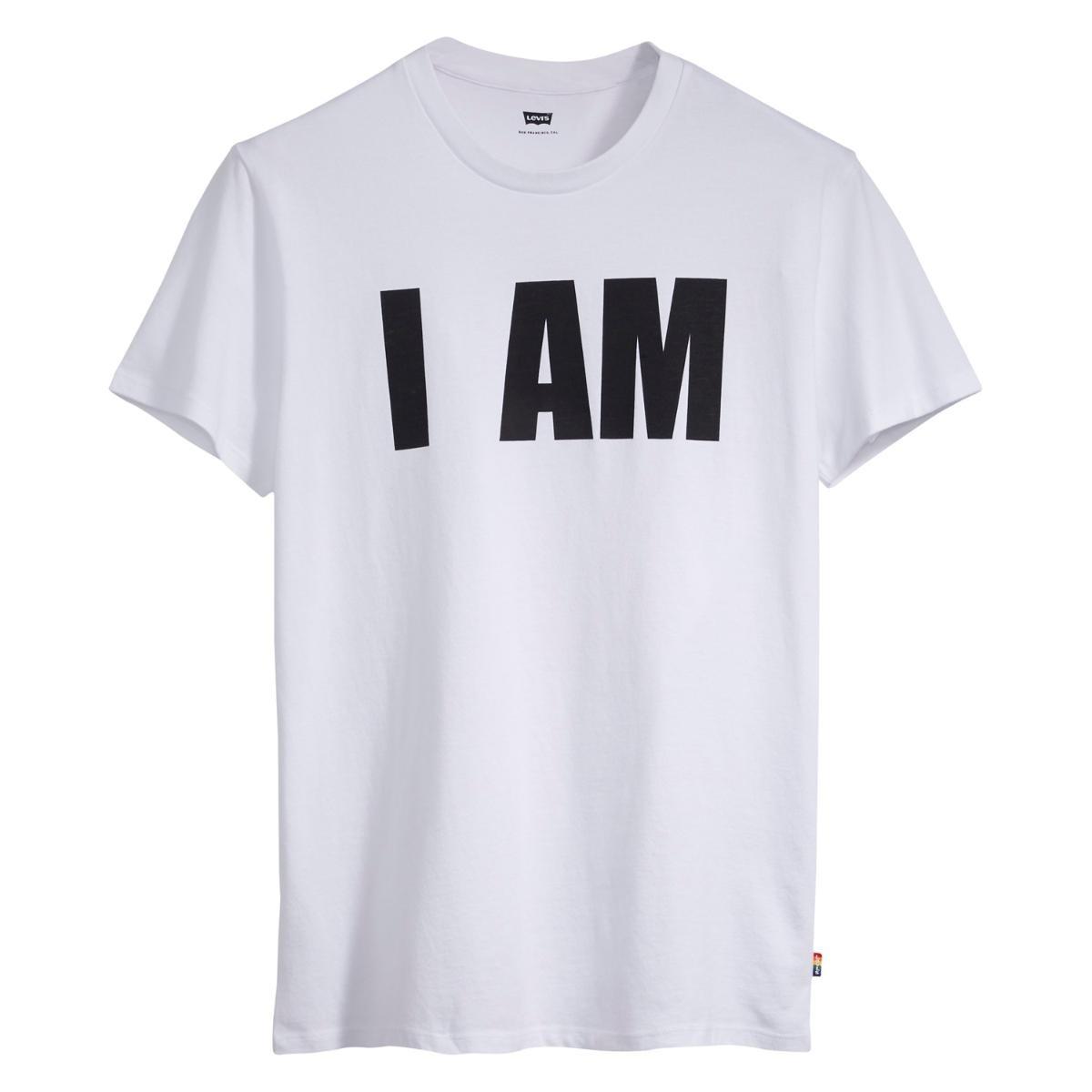 Nuevos objetos moda más deseable 60% barato Camiseta Levis Masculino Pride Branco