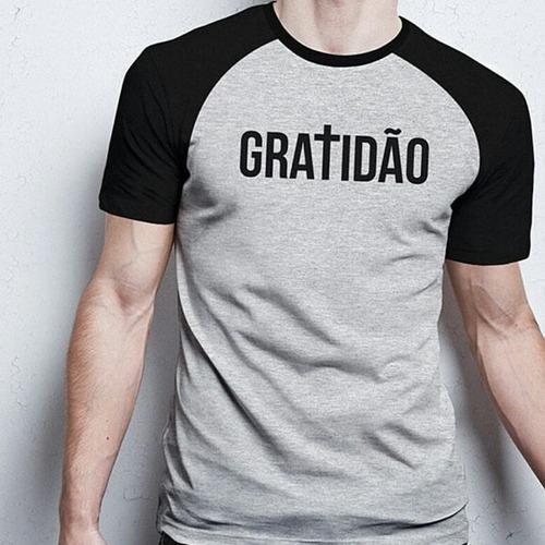 camiseta linda gospel #gratidão sinza modelo unico