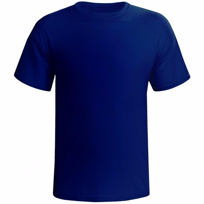 50de2ff7ca883 Camiseta Lisa 100% Algodão Fio 30.1 G1-g6 Plus Size Marinho - R  25 ...