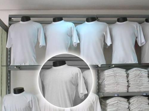 27b66cd11784c Camiseta Lisa Branca Malha 100% Poliester -varejo atacado - R  21