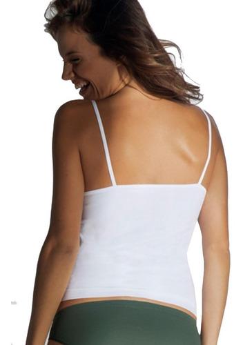 camiseta lisa bretel fino x2 unidades aretha art 731 s- m- l