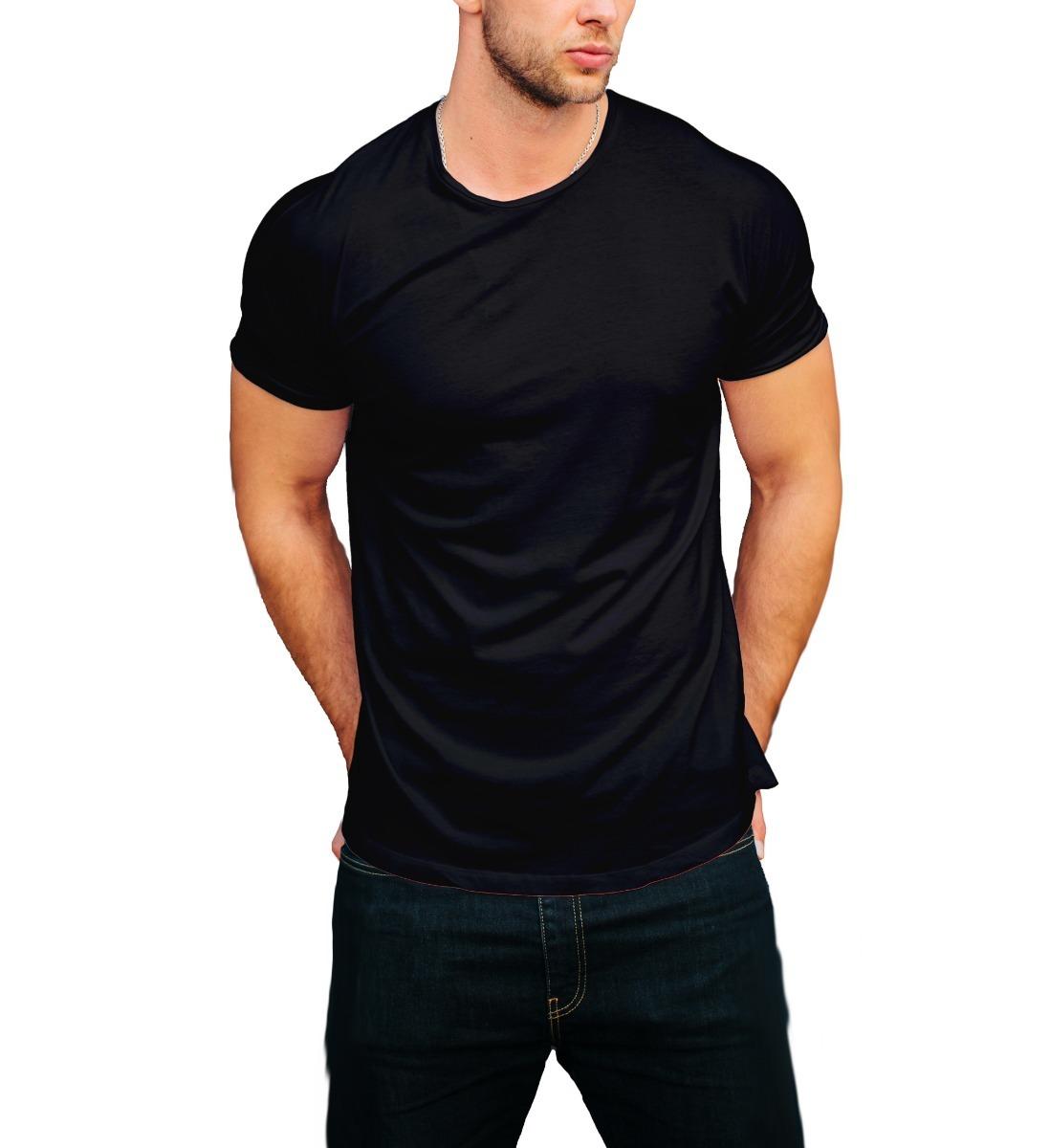 7a273edbef camiseta lisa gola olímpica preta malha pv anti-pilling. Carregando zoom.