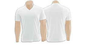 d27d00d891 Camiseta Lisa Branca Gola V 100% Algodão Fio 30.1 Atacado ...