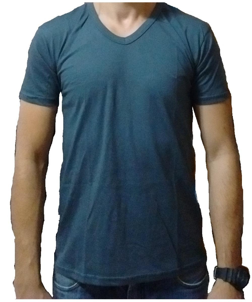 b40bdf161d camiseta lisa gola v 100% algodão fio 30.1 cinza chumbo. Carregando zoom.