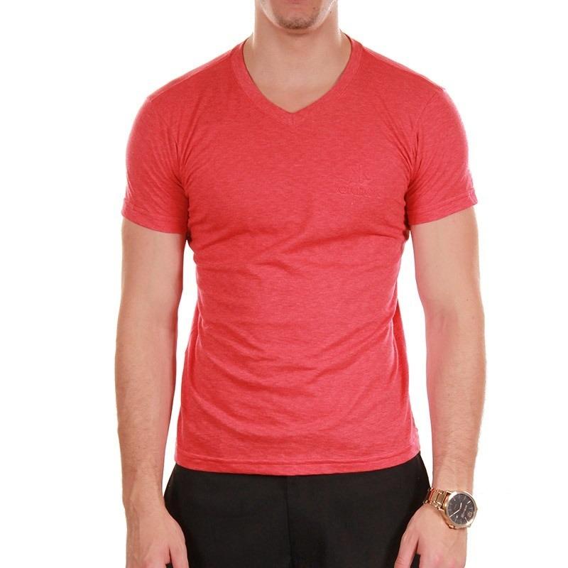 camiseta lisa gola v cores 100% algodão - fio 30.1. Carregando zoom. 9e2ab59a551
