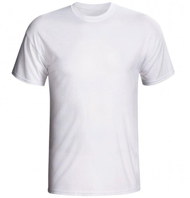 Camiseta Lisa Malha Fria Camisa Branca Ótima P  Estampas - R  17 7fb59392c7443