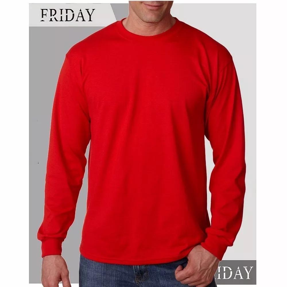 camiseta lisa - manga longa - 100% algodão penteado. Carregando zoom. 083403682e8