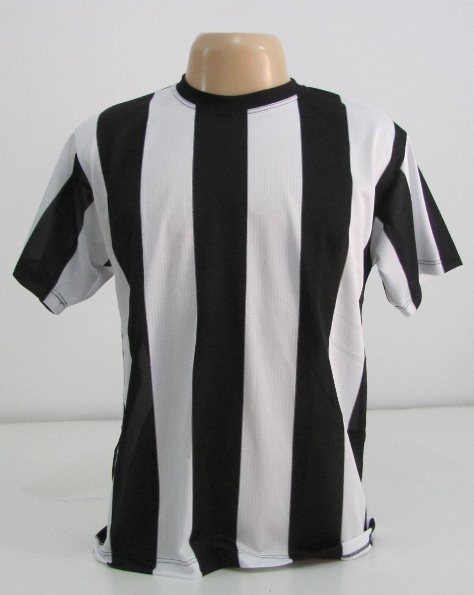 5a323178df camiseta listrada preta   branco vertical - malha fria. Carregando zoom.