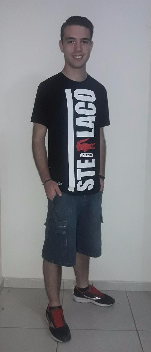Camiseta Listradas Lacoste Live 100% Original Peruanas - R  89,90 em ... e337c01603