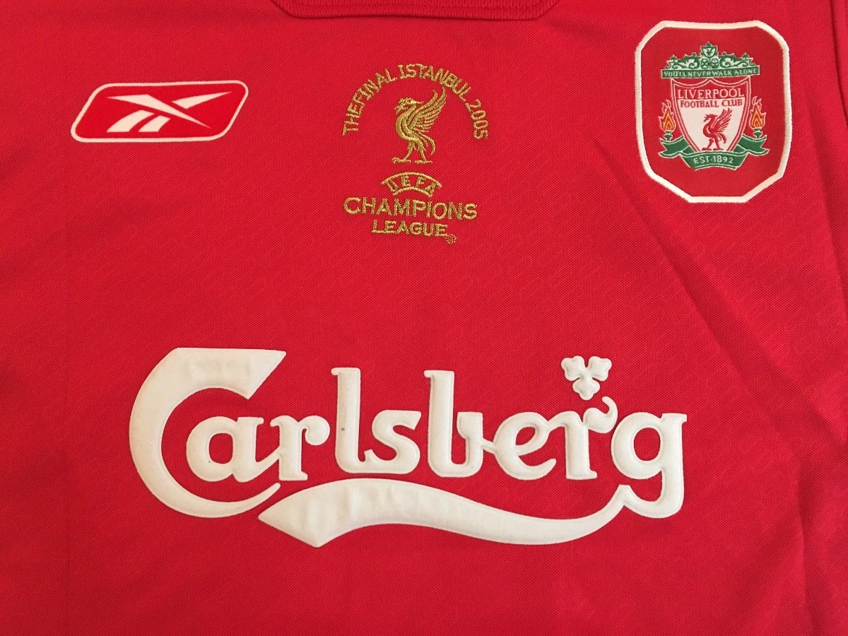 8981ebdce6 camiseta liverpool final champions 2005 -  8 gerrard. Carregando zoom.