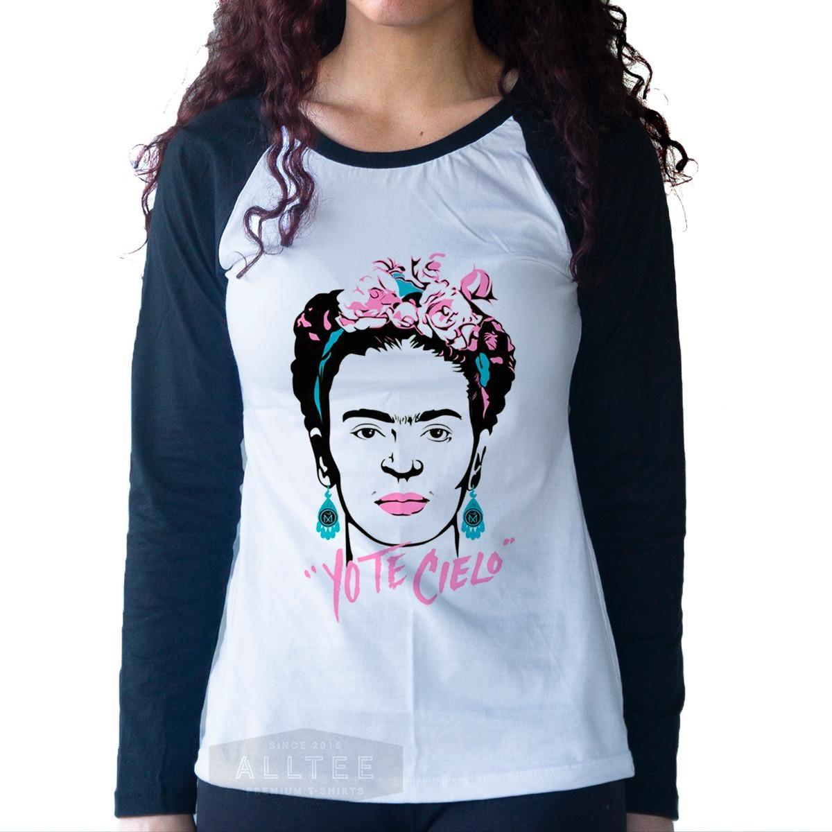 camiseta longa frida kahlo aquarela feminista tumblr moda. Carregando zoom. 6492ded372f