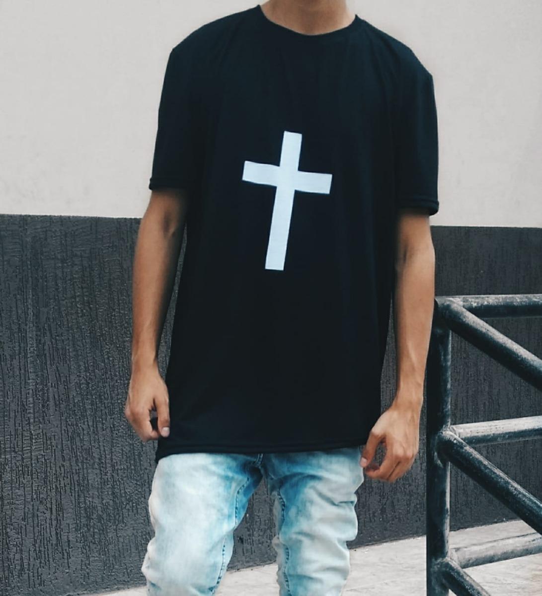 13f0bf3cc camiseta longline camisa blusa oversized swag - com cruz. Carregando zoom.