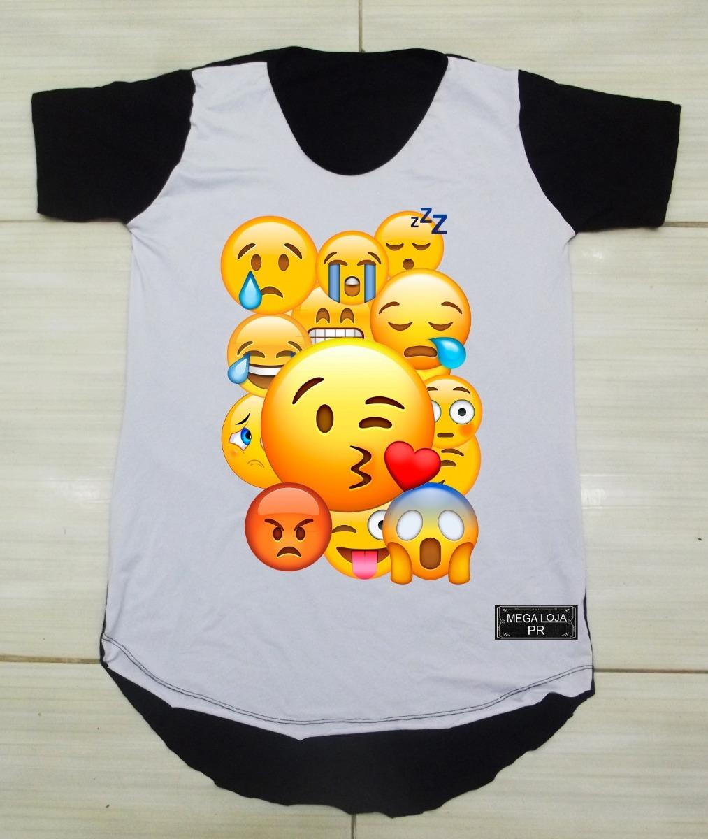 57103b6f93 camiseta longline camisa oversized personalizada emoji. Carregando zoom.