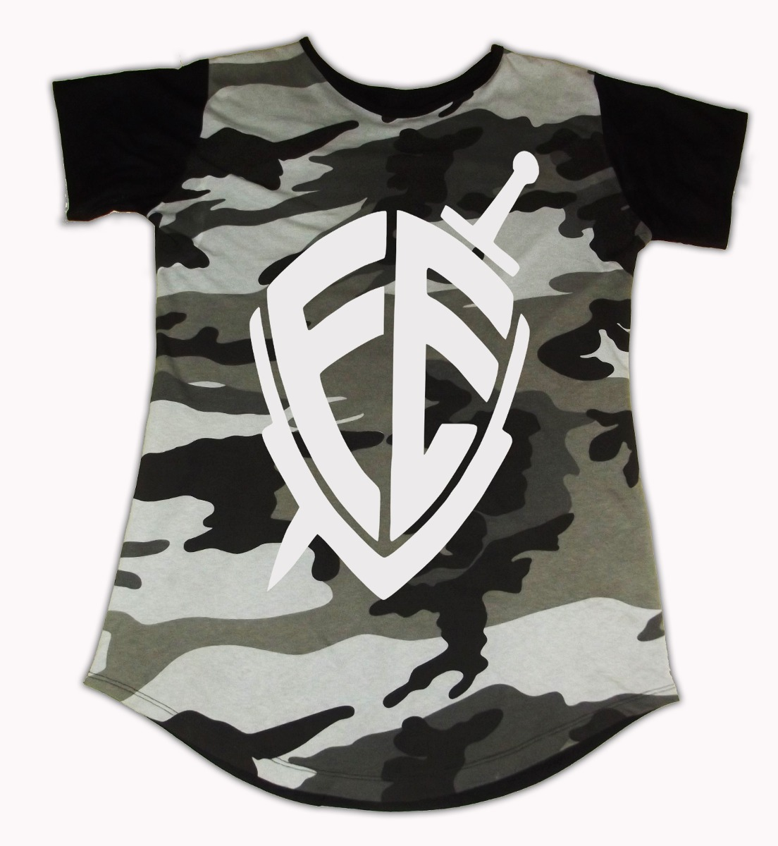 3de990e741 camiseta longline camuflada camisa escrita personalizada. Carregando zoom.