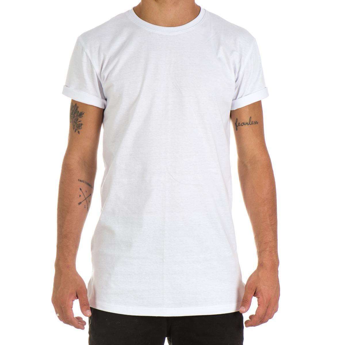 5641110a5 camiseta longline lisa unissex oversized swag maior costas. Carregando zoom.