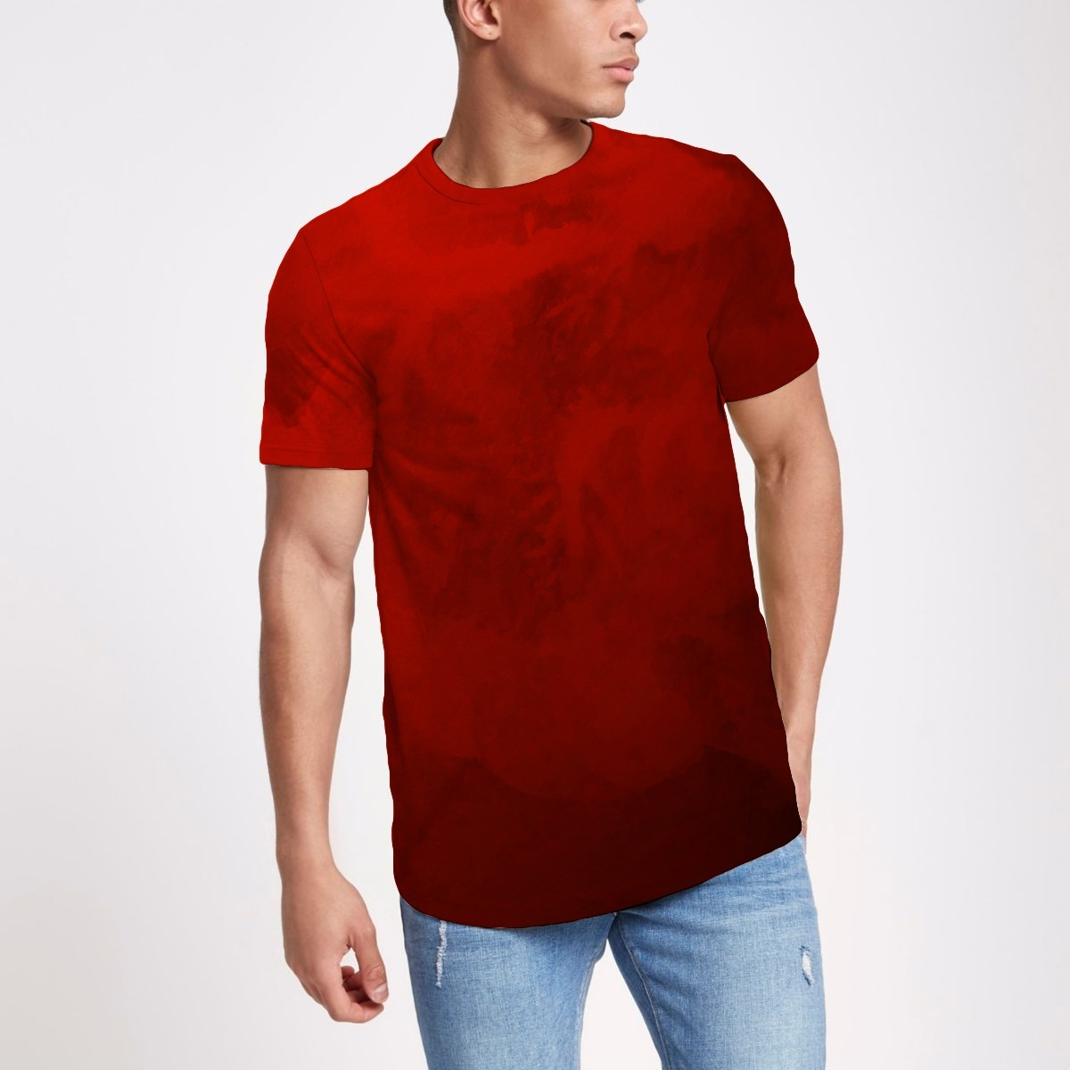 2cc045ead camiseta longline masculina oversized camisa blusa textura. Carregando zoom.