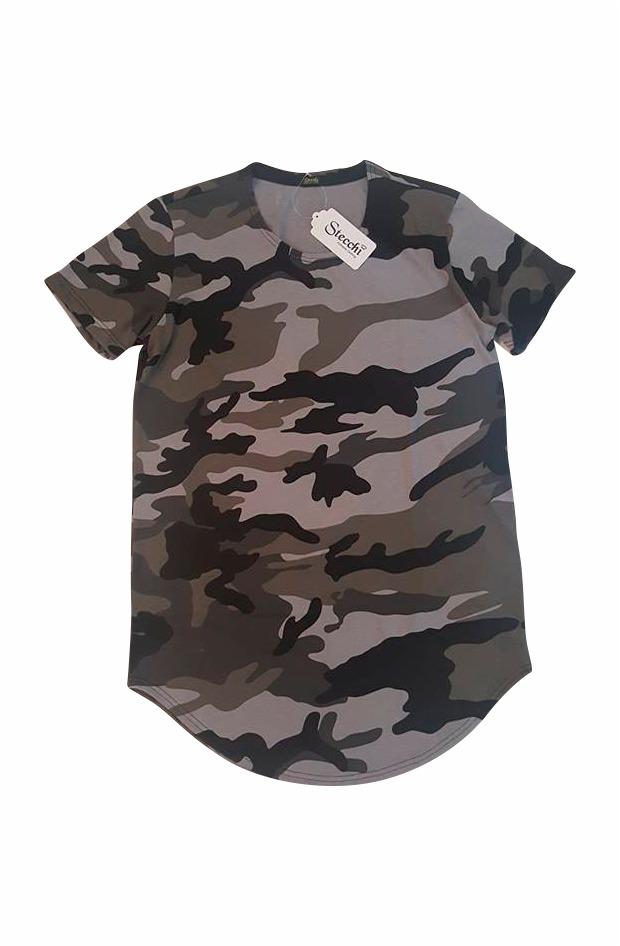 fafd452467 camiseta longline oversized swag camuflada stecchi promoção. Carregando zoom .