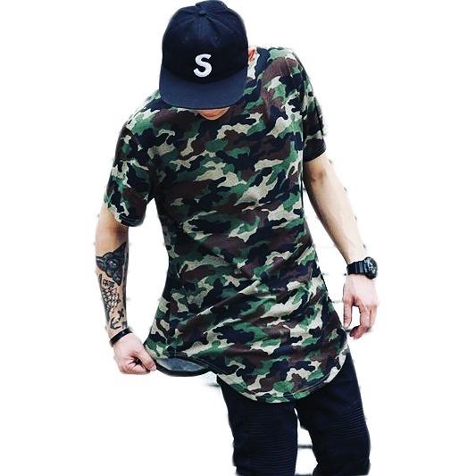 da48ed990f Camiseta Longline Oversized Swag Camuflada Stecchi Promoção - R  42 ...