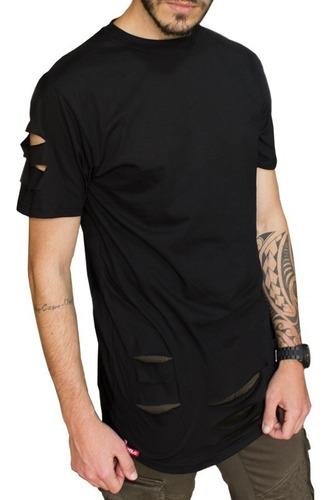 camiseta longline rasgada destroyed swag c86 vcstilo