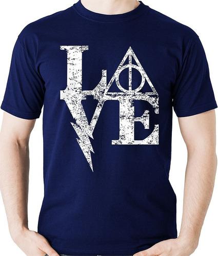 camiseta love harry potter - reliquias camisa blusa
