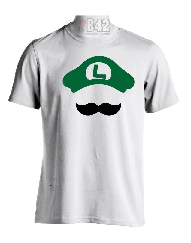 a3c944fcc68d7 Camiseta Luigi Camisa Super Mario 100% Algodão Satiras Geek - R  27 ...