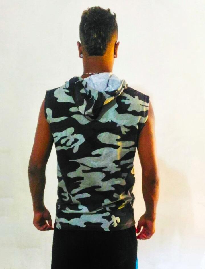 camiseta machão masculina com capuz ziper e bolso canguru. Carregando zoom. 6a9b2a218f2