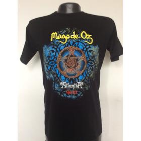 Camiseta Mago De Oz Atlantia Gaia 3 Rock Metal Comic Anime
