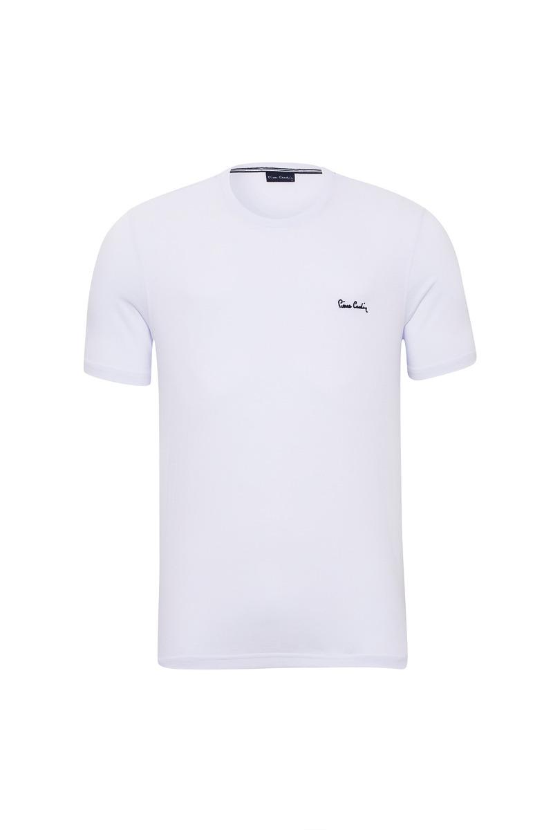9dd1d244db Camiseta Malha Básica Branca Pierre Cardin - R  114