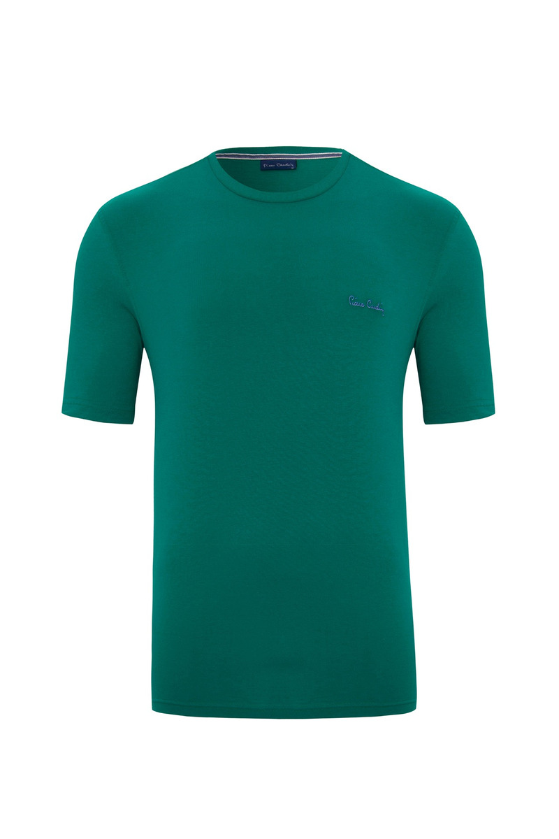 728471c515 Camiseta Malha Básica Verde Pierre Cardin - R  114